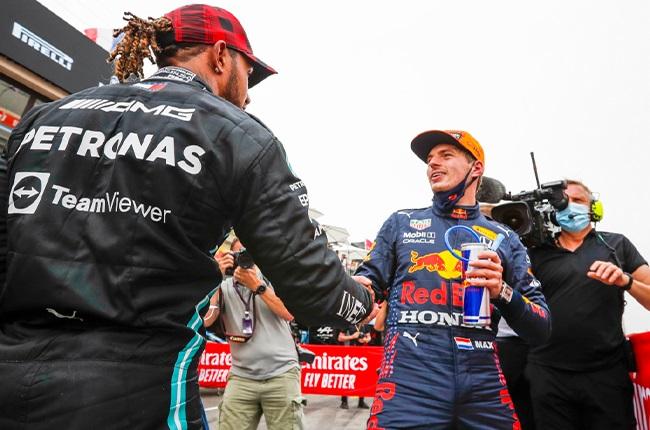 Lewis Hamilton (left) and Max Verstappen
