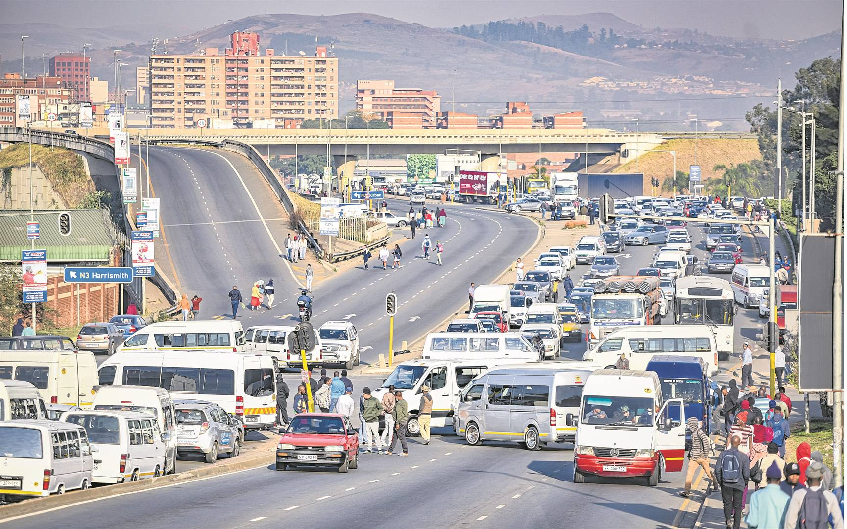 PICS | Pietermaritzburg city brought to a standstill by protesting mini-bus taxi operators | Witness