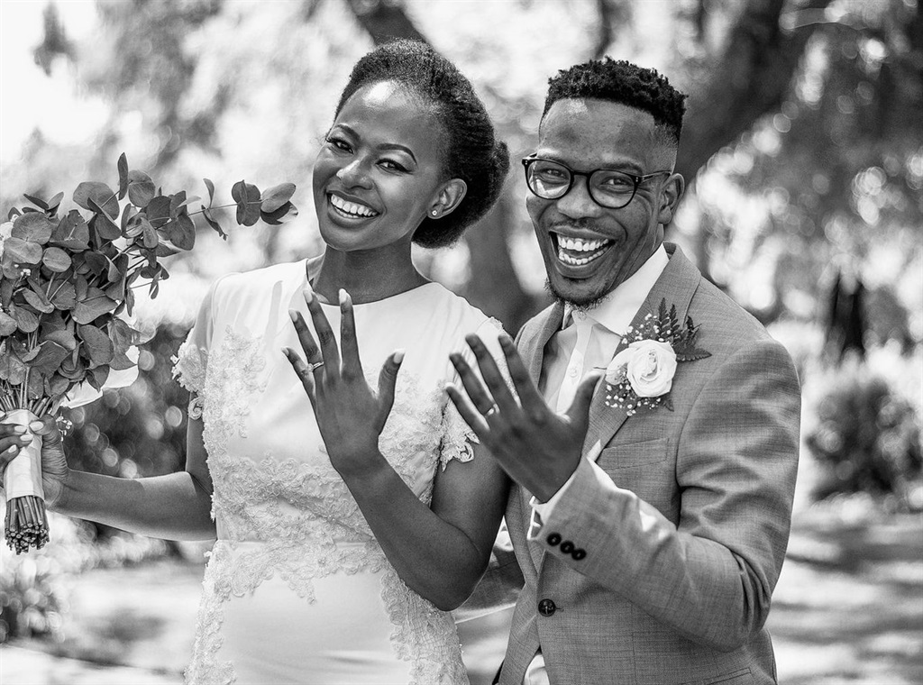 Newlyweds Sive and Solam Mbana took home half a million rand as winners of SA's first financial education TV show. Photo supplied by Atmosphere