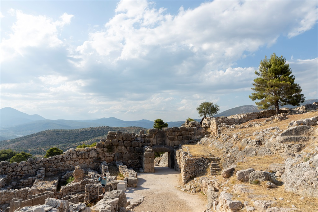 Ancient Mycenae is one of the most impressive archaeological sites in Greece. It makes an appearance in Damon Galgut's 'In A Strange Room' (Photo by Athanasios Gioumpasis/Getty Images)
