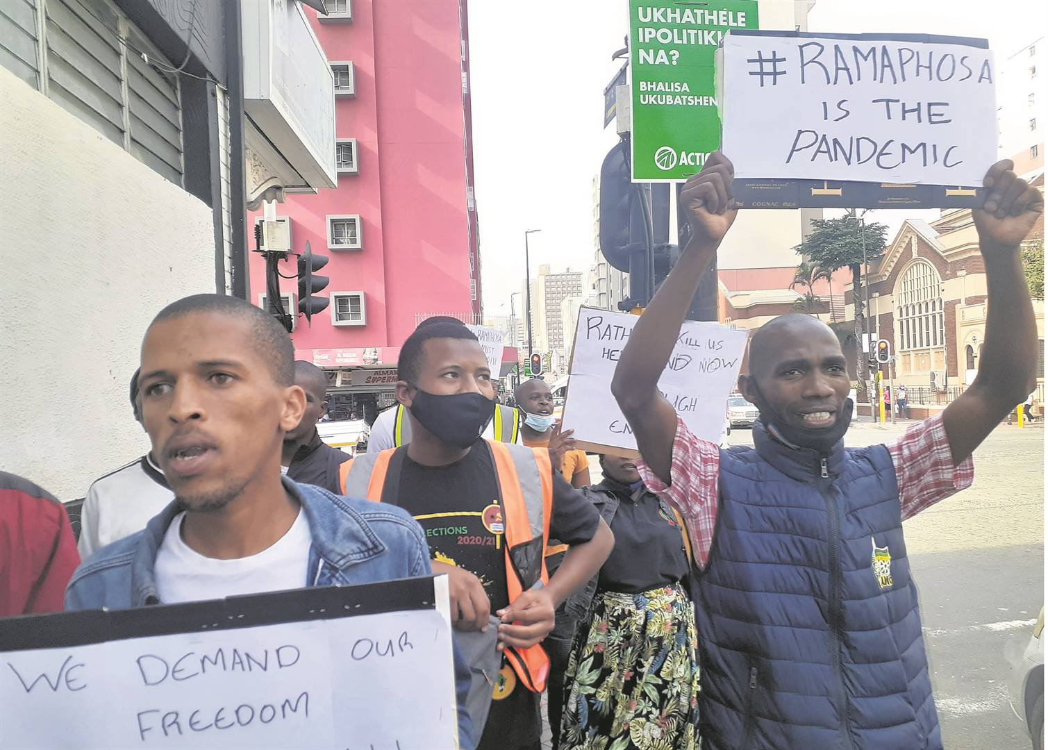 Pro-Zuma protesters in Durban were clear in their disdain of President Cyril Ramaphosa.