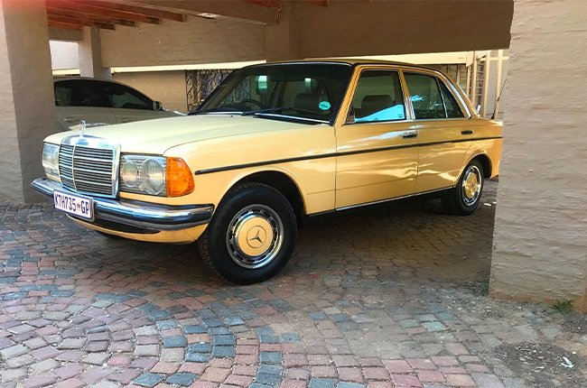 Stuart Johnston had to replace the spark plugs on his classic Mercedes-Benz W123.