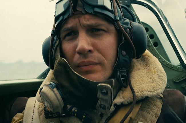 Tom Hardy in Dunkirk.