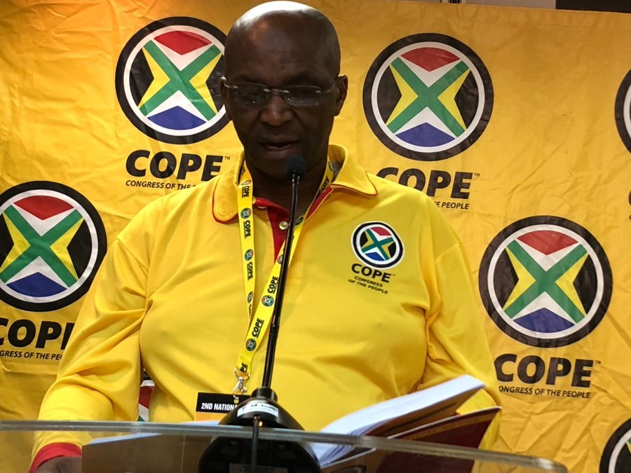 Papi Kganare died of Covid-19 in a Johannesburg hospital. (Twitter, @COPE_SA)