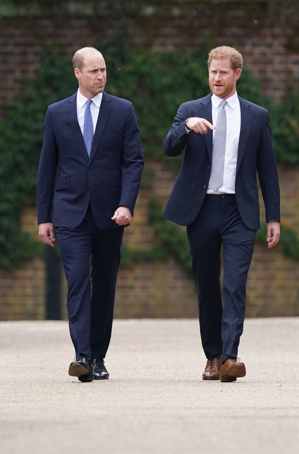 Prins William en prins Harry.