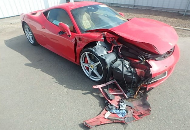 I probably just lost my license' - driver crashes rented Ferrari 458