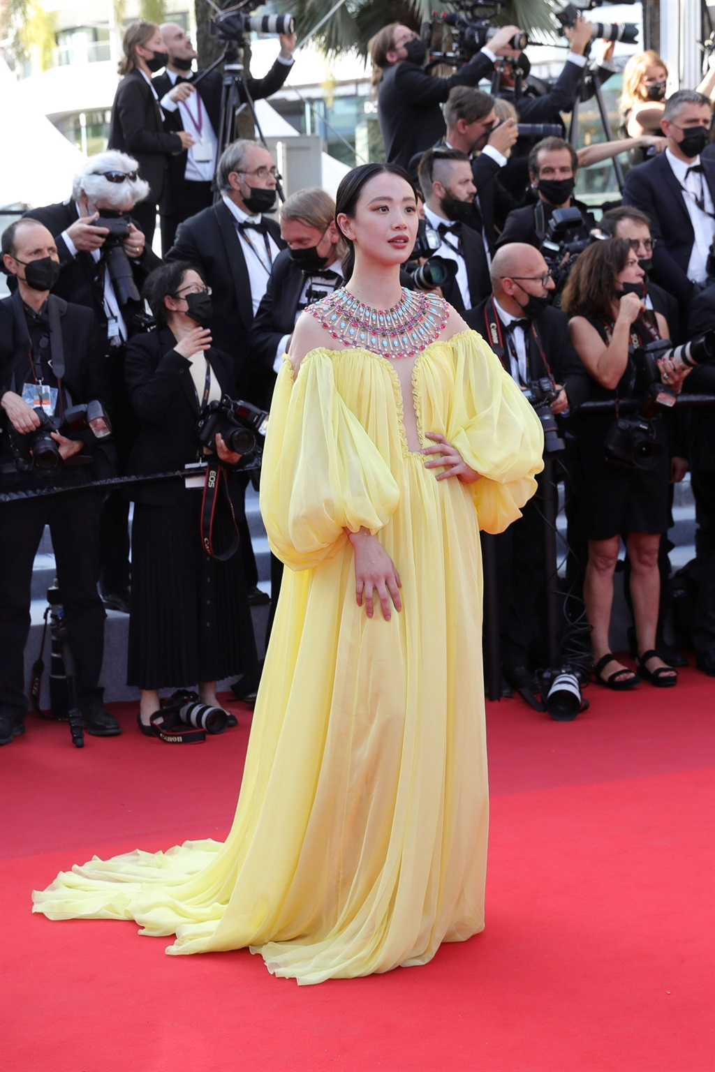 CANNES, FRANCE - JULY 06: Meng Li attends the Anne