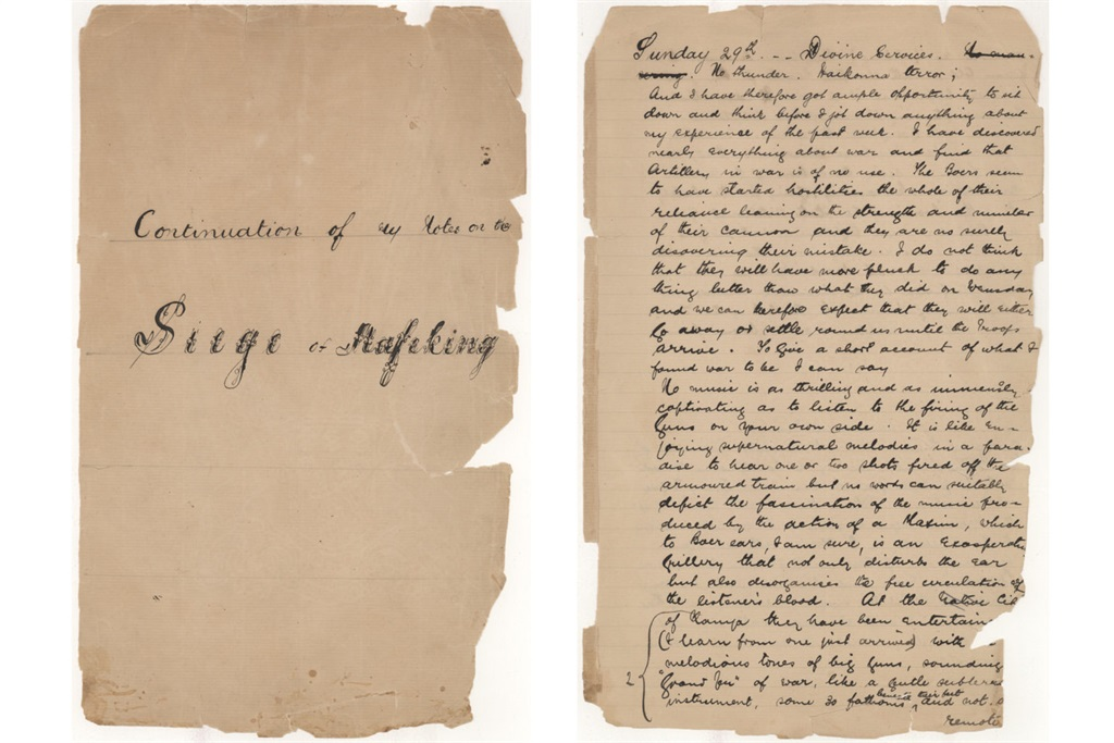 The diary that Sol Plaatje kept during the Mafeki