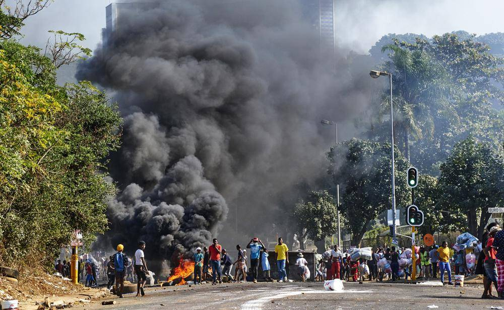 The scene in Durban as riots engulf the KwaZulu-Natal province. Photo: AP