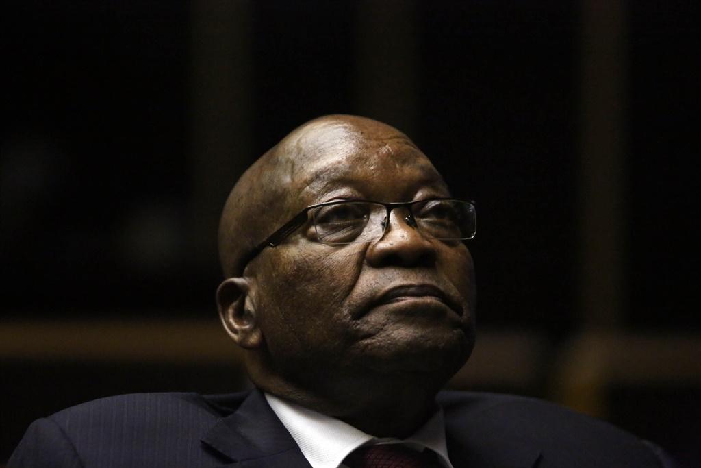 Former president Jacob Zuma in court.