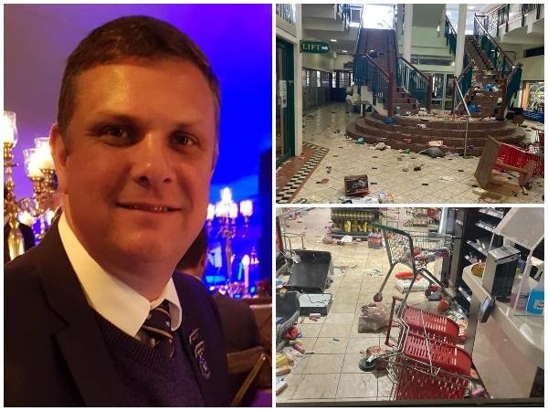 Janus Horn vertel oor sy eerstehandse ervaring met die onluste in Durban. Foto: Facebook/JanusHorn