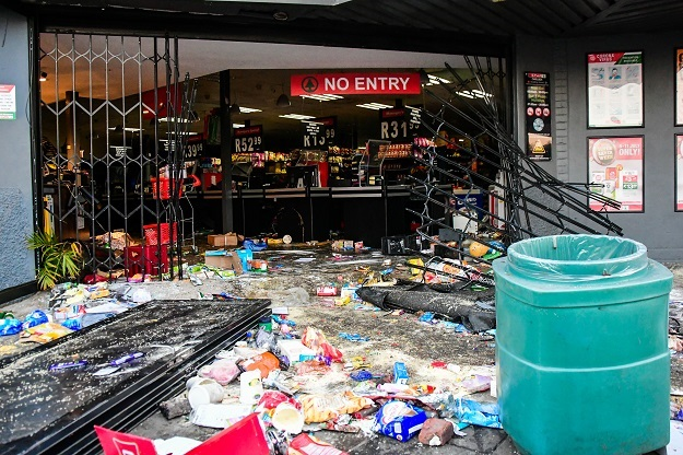 A looted Spar branch in New Germany, Durban.