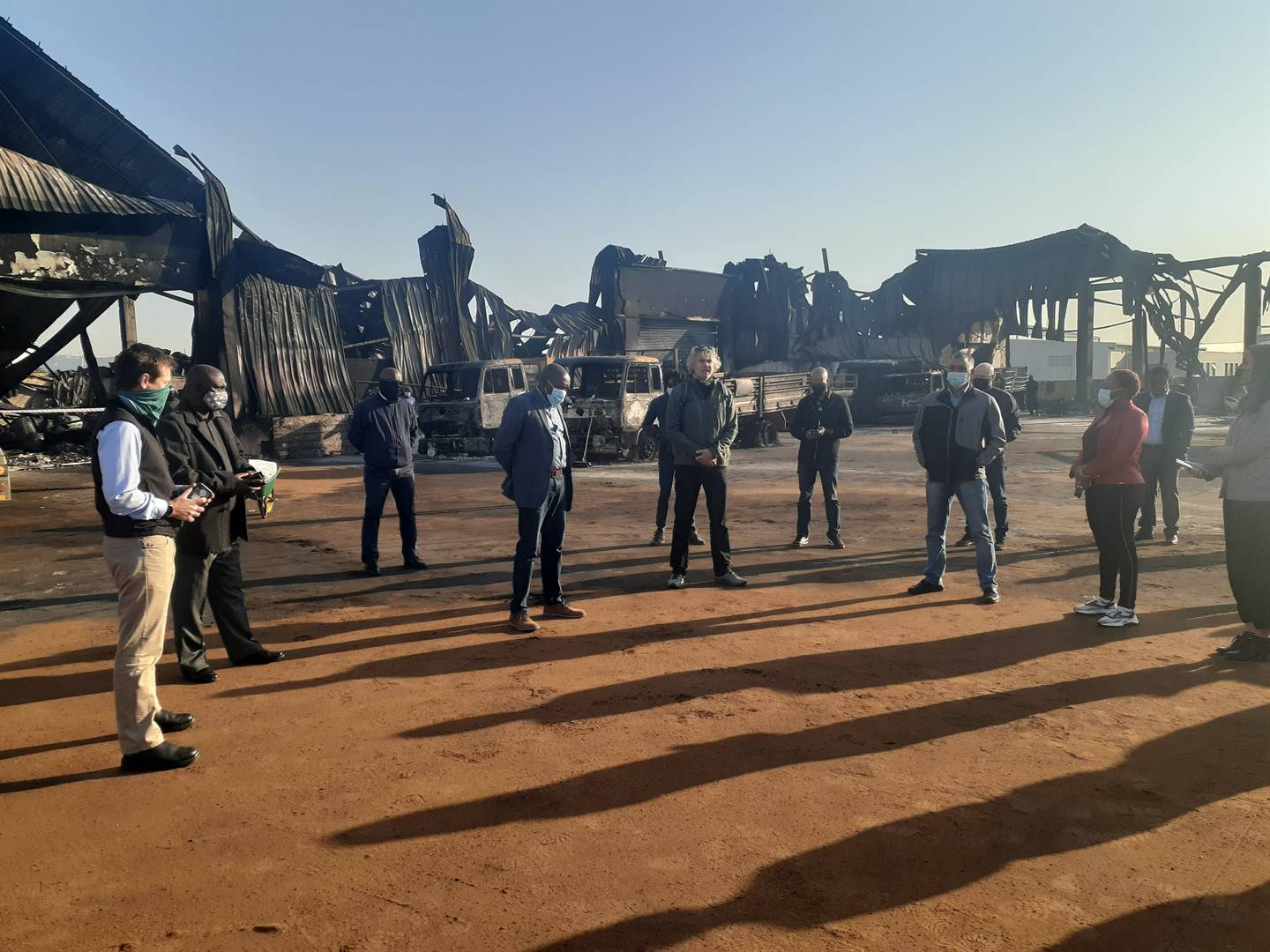 eThekwini Municipality Mayor, Mxolisi Kaunda, meeting with business owners of the Cornubia Industrial and Business Estate where 16 warehouses were looted.