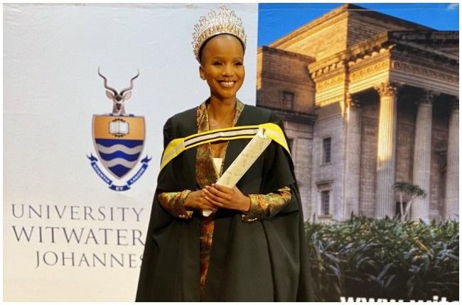 Miss SA, Shudufhadzo Musida recently graduated from WITS.