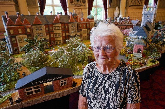 Margaret Seaman knitted a replica of Sandringham for charity. (PHOTO: Gallo Images/Getty Images)