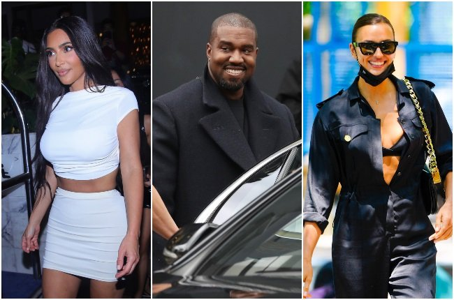 """Kim and Kanye are reportedly """"getting along well"""" as the rapper continues to pursue his romance with Irina Shayk. (PHOTO: GALLO IMAGES / GETTY IMAGES)"""