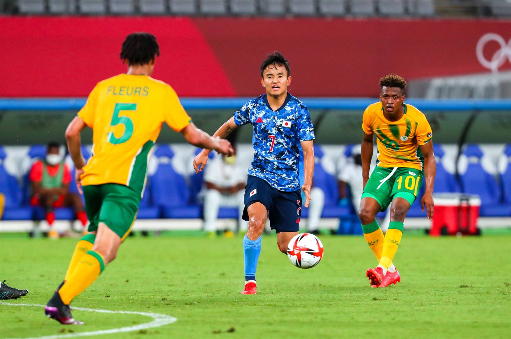 Japanese striker Takefusa Kubo scored the goal that sunk South Africa in their opening game of the Olympics on Thursday. Photo: Roger Sedres/Gallo Images