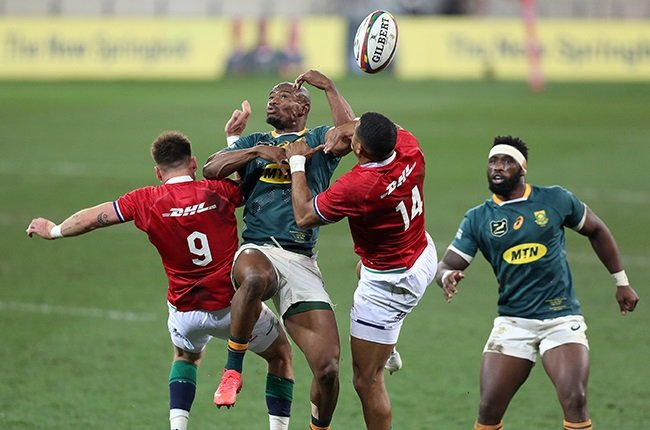 The Springboks struggled under the high ball in Saturday's first Test against the Lions. (Photo by EJ Langner/Gallo Images)