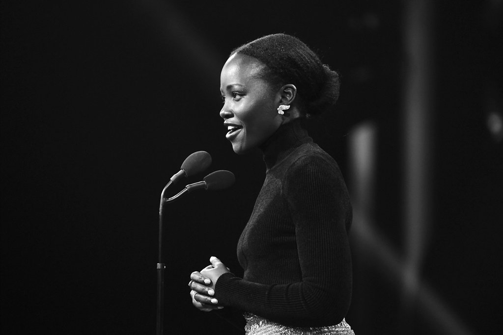 Lupita Nyongo speaks onstage during the 2019 British Academy Britannia Awards presented by American Airlines and Jaguar Land Rover at The Beverly Hilton Hotel on October 25, 2019 in Beverly Hills, California. (Photo by Emma McIntyre/BAFTA LA/Getty Images for BAFTA LA)