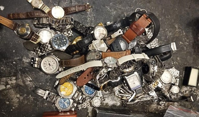 Some of the recovered watches.