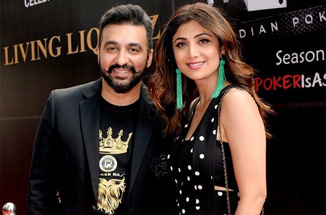 Raj Kundra and Shilpa Shetty.