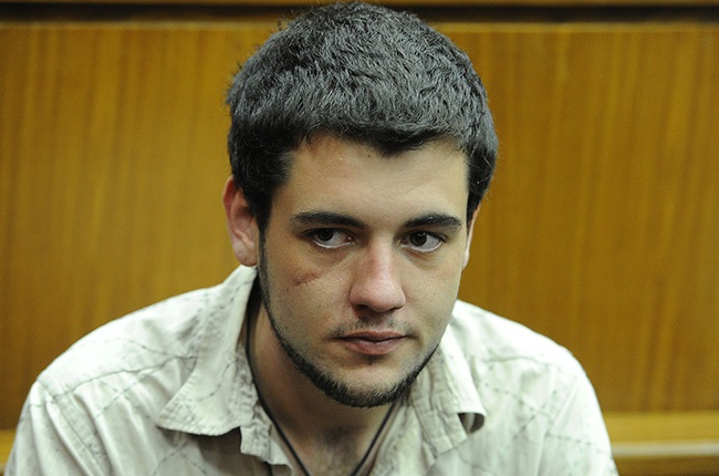 Le Roux Steyn (22) during their appearance at the Johannesburg High Court on 16 April 2018.