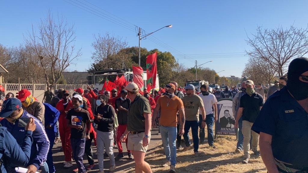A protest at an old age home in Pretoria turned te