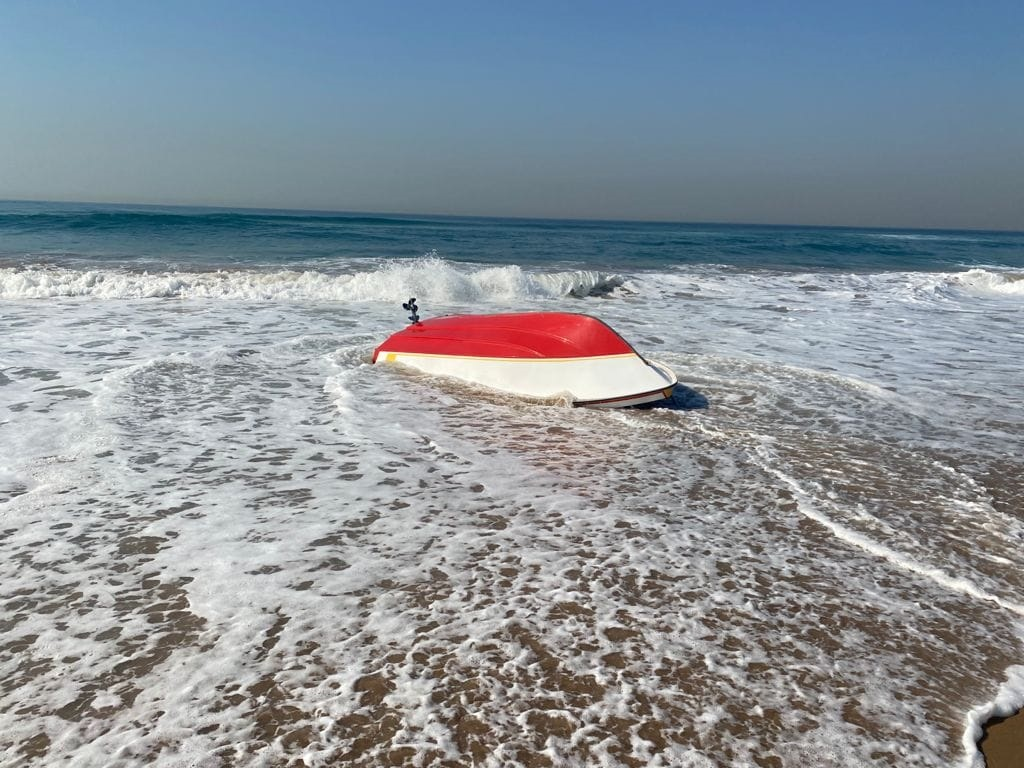 A fisherman was injured after the fishing boat he was on overturned off Virginia Beach, Durban North, on Thursday morning.