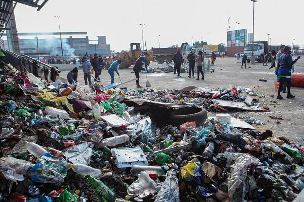 SOWETO, SOUTH AFRICA - JULY 16: Operation Clean-U