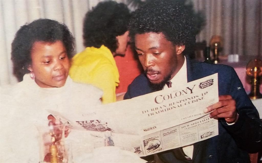 Fred Khumalo (left) with colleague Busi Mazibuko i