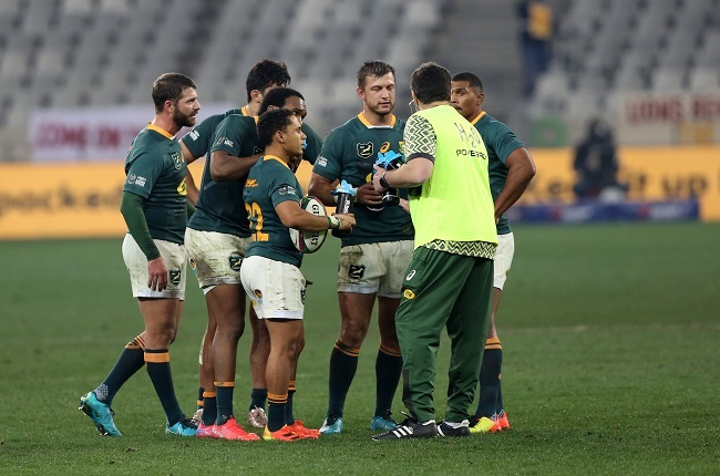Rassie Erasmus was the Boks' water boy once again. (Photo by EJ Langner/Gallo Images)