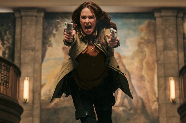 Lena Headey in Gunpowder Milkshake.
