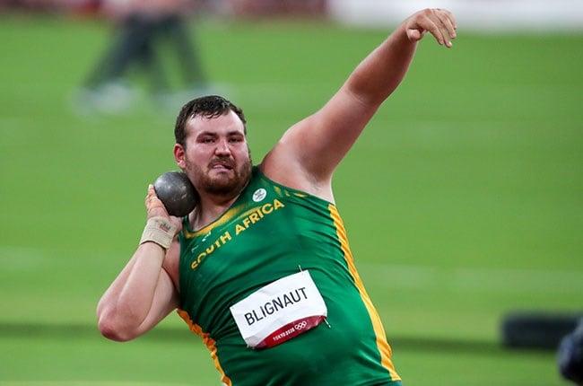South African shot putter Kyle Blignaut