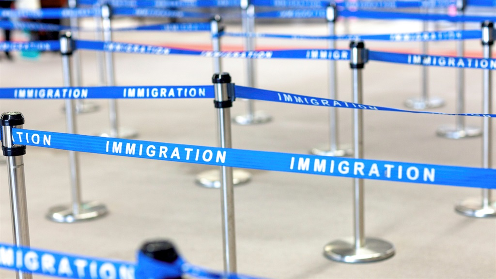 An immigration line