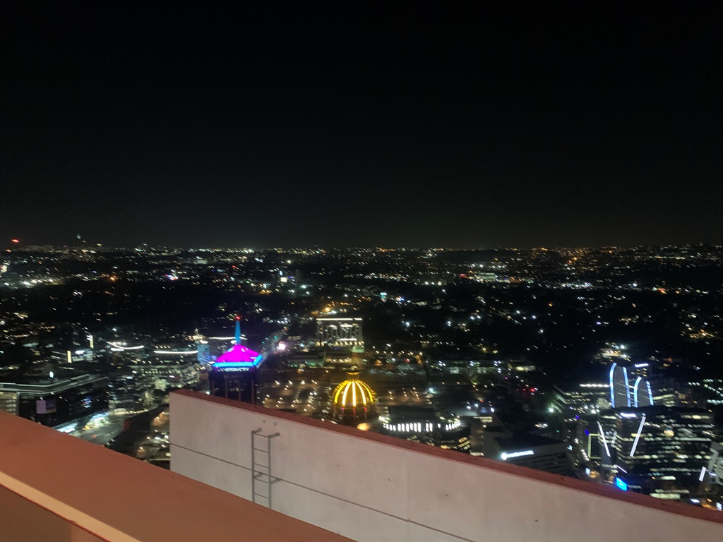 View of the city lights