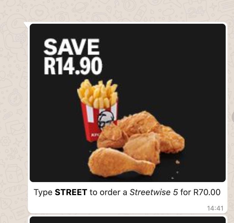 KFC saving