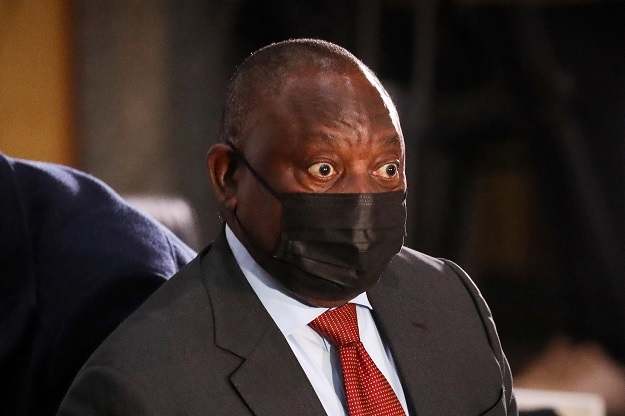 Cyril Ramaphosa at the Zondo Commission on Thursday.