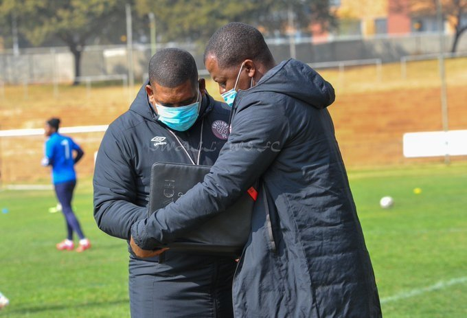 Swallows coach Brandon Truter said playing in the top eight was a challenge his side was looking forward to. Photo: @Moroka_Swallows/Twitter