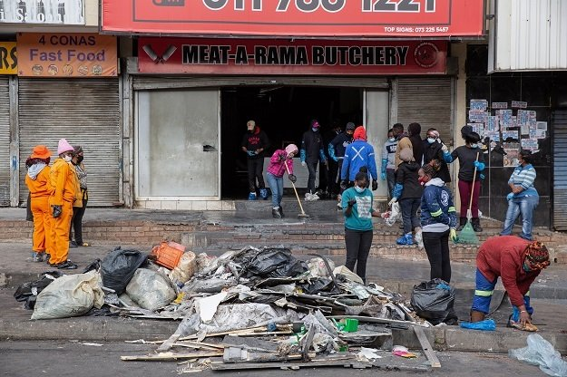 JOHANNESBURG, SOUTH AFRICA - 15 JULY: Residents of