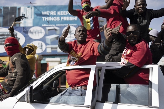 Supporters of Zambian President elect for the oppo
