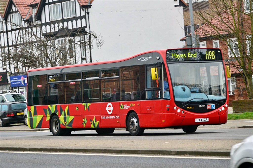 By the end of next year, 10% of London's bus network will operate without emitting greenhouse gases.