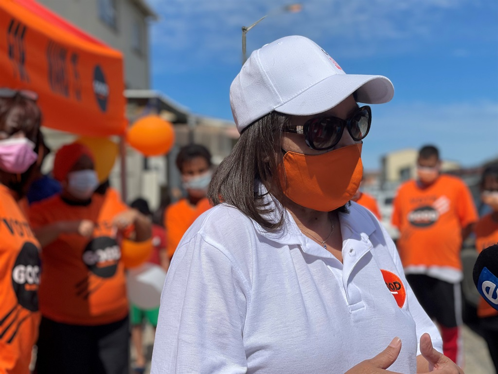 GOOD leader Patricia De Lille campaigning in Cape Town.