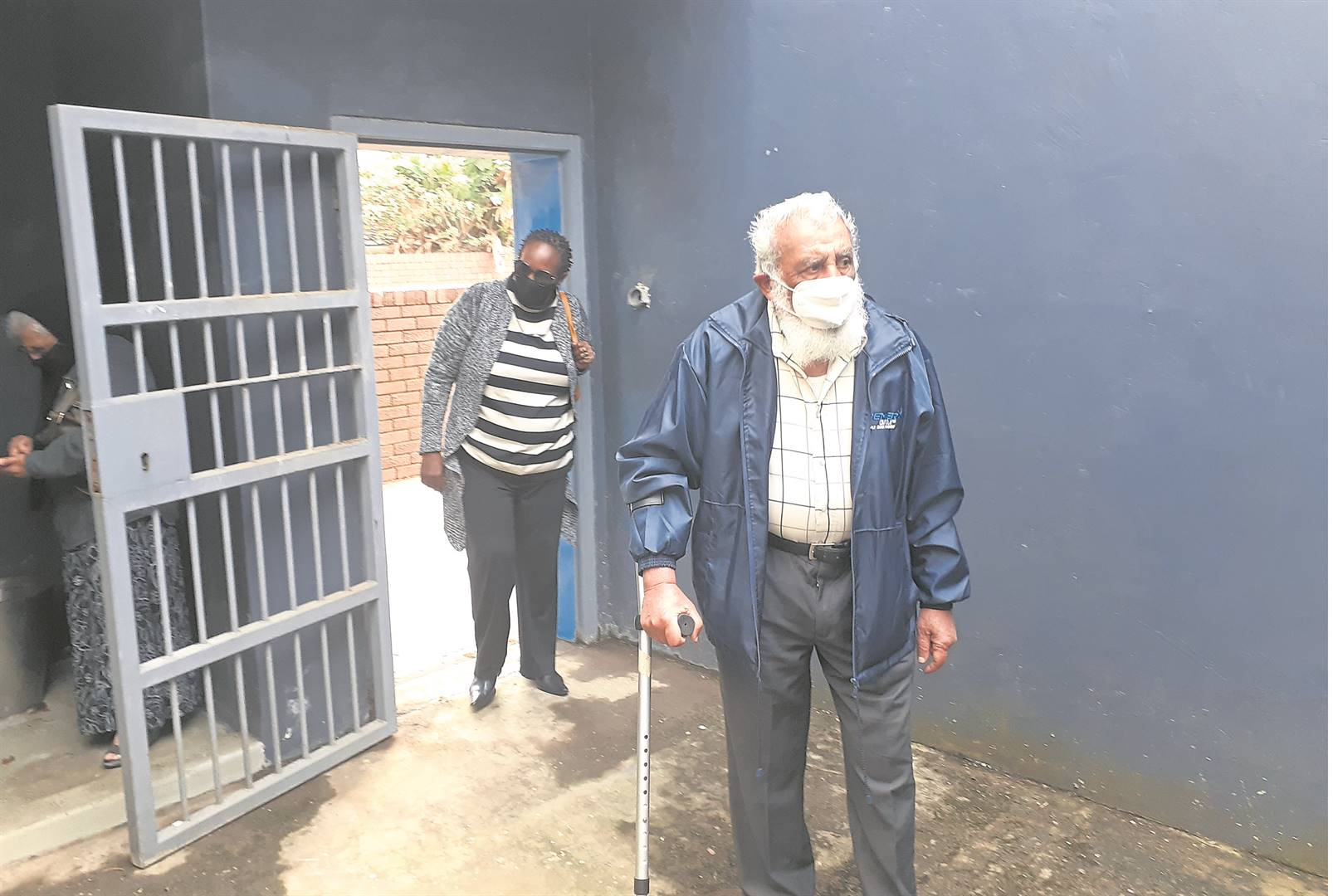 For the first time, Ismail Haffejee enters the cell at the Brighton Police Station where his brother, Dr Hoosen Haffejee, died in August 1977.