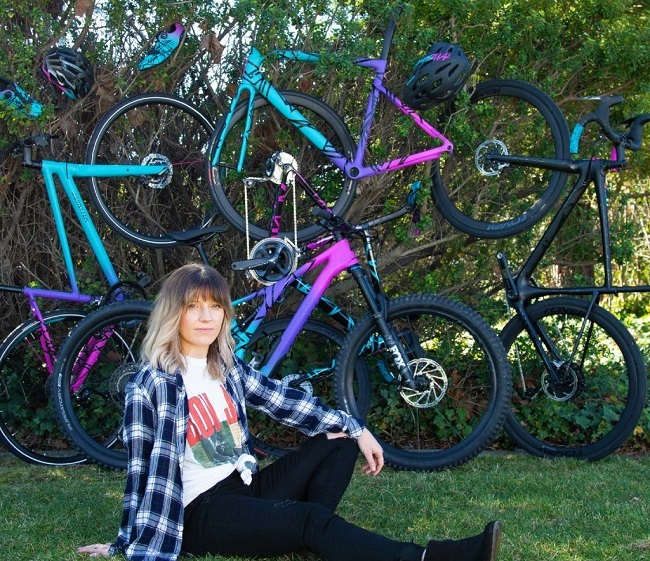 The Mixtape collection saw Kayla matching her love of music, with riding (Photo: Specialized)
