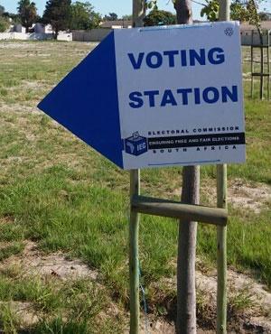 IEC voting station. (Elmarie Jack, News24)