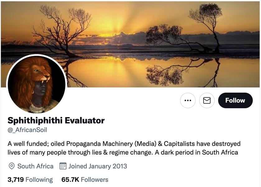 Siphithiphithi Evaluator Twitter profile.