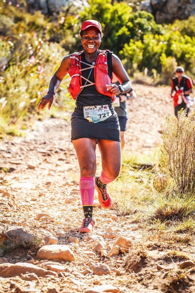 Nontu Mgabhi on one of her training runs