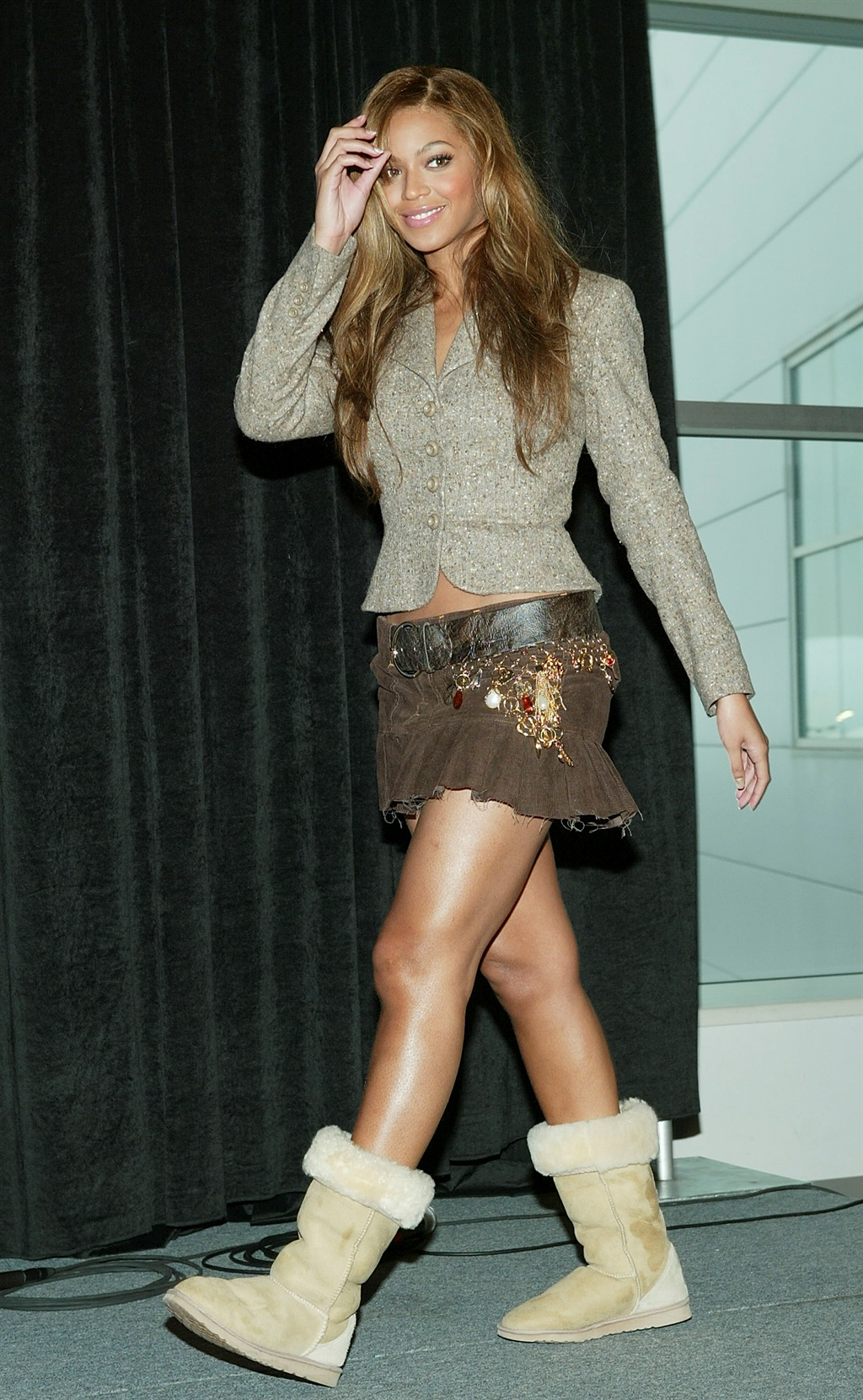 HOUSTON - JANUARY 30: Singer Beyonce Knowles pose