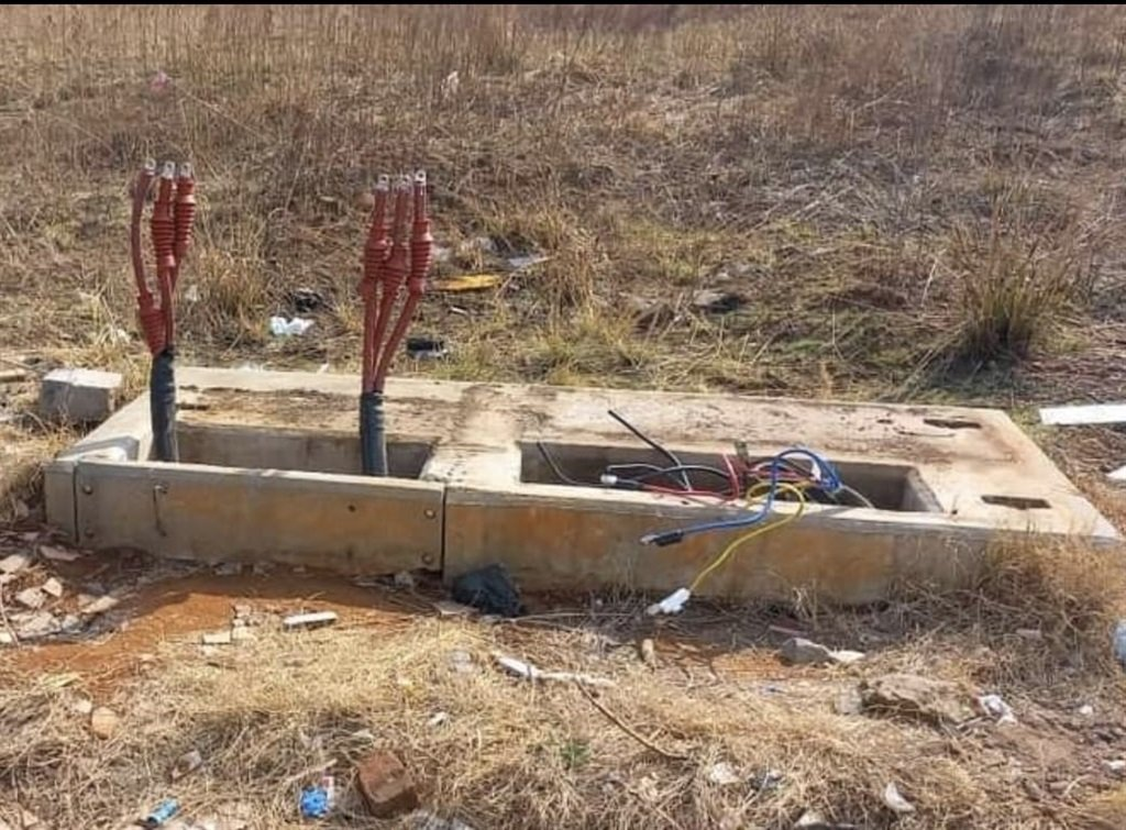 A mini-substation valued at R500 000 was stolen a day after it was installed.