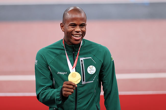 South African Paralympic gold medallist Ntando Mahlangu in Tokyo
